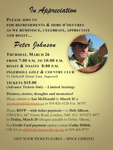 Peter Johnson Appreciation Evening